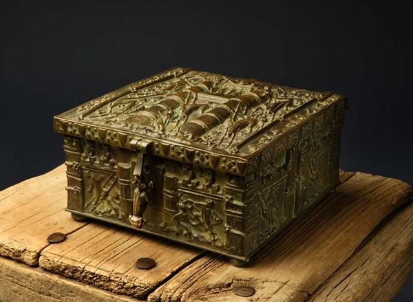 """Forrest Fenn says he hid treasure in this bronze chest a few years ago """"somewhere north of Santa Fe."""""""