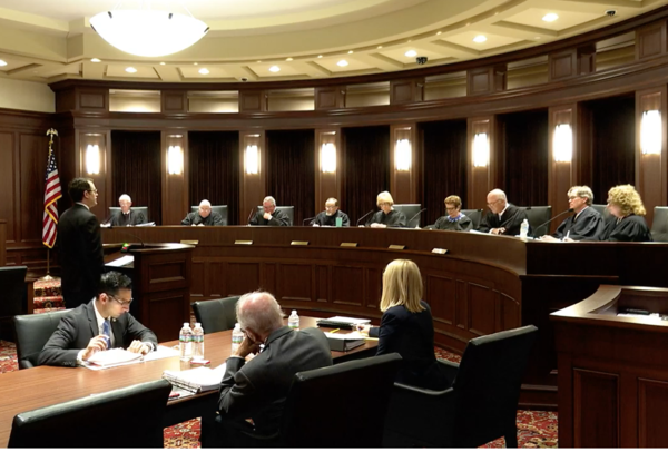 OCPA attorney Travis Jett argued in front of the Oklahoma Supreme Court on June 18, 2019.