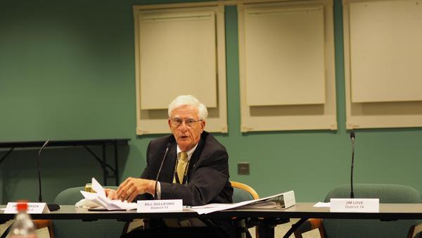 Councilman Bill Gulliford at an opioid meeting last year