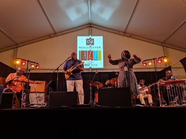 The Campbell Brothers brought church to the Squeezers Stage at the 2019 CGI Rochester International Jazz Festival on Sunday, June 23.
