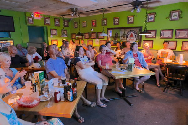 Democrats gather at an Irish pub in Key West to watch the first Democratic debate of the 2020 election season.