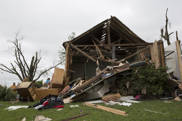 A tornado destroyed several dozen houses in Linwood, Kansas, on May 29, 2019.