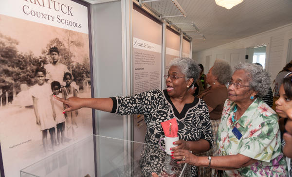 The Historic Jarvisburg Colored School Museum exhibits relate the life of the black, rural poor from 1868 to the 1950s.