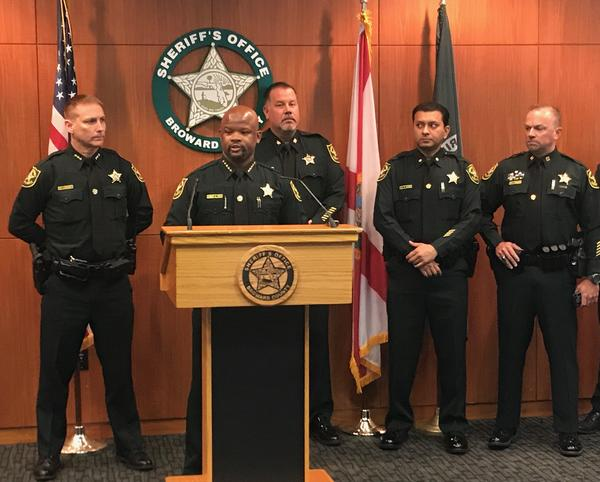 Broward County Sheriff Gregory Tony announced Wednesday the completion of an internal affairs investigation of deputies' responses to the Parkland school shooting. Four deputies have been fired for neglect of duty, Tony said.