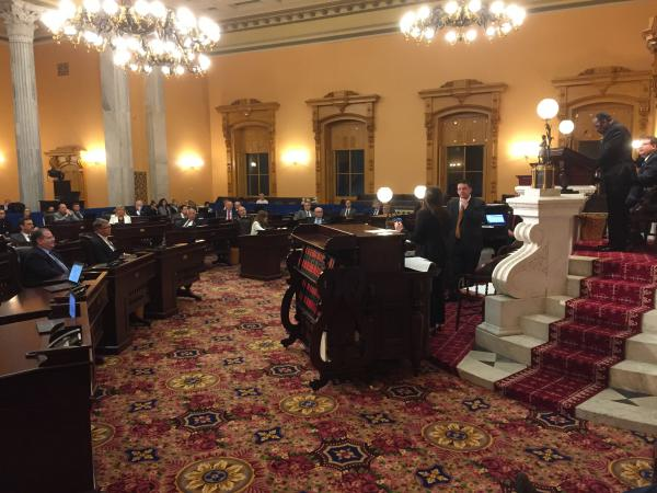 Ohio Senate meets late on a Saturday night to pass temporary budget extension.