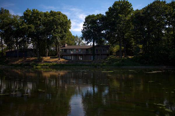One of dozens of houses along the Kalamazoo River sits empty since the spill. Enbridge offered to buy up most of the property along the river immediately after the spill, and most residents sold at deflated prices to escape the area.