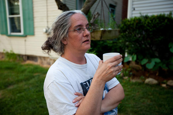 Michelle BarlondSmith and her husband lived in a riverfront trailer park. BarlondSmith says the sickening fumes from the oil lasted for months.