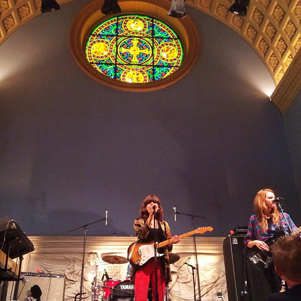 """Eleanor Friedberger, performing a live noon set for KEXP, at the Judson Memorial Church in New York. Madly love her words."" <em>- Bob Boilen</em>"