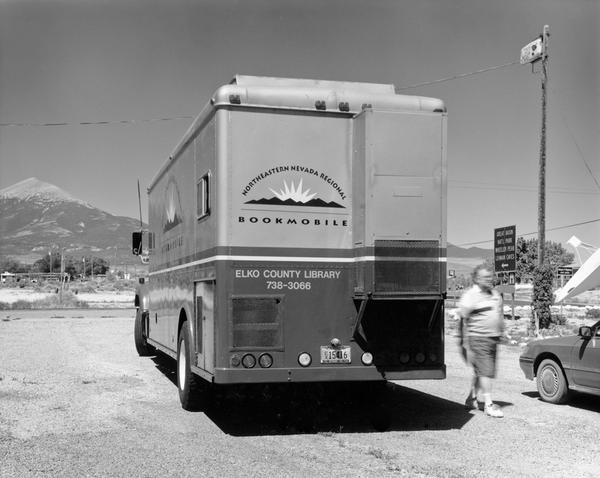 Elko County Library's Northeastern Nevada Regional Bookmobile in Baker, Nev. (2000)