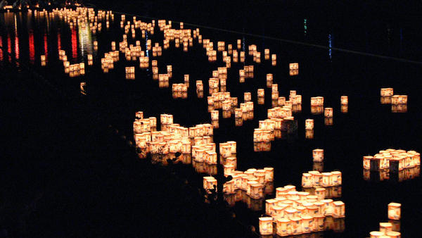 Marie Mutsuki Mockett says the Japanese tradition of <em>Tōrō nagashi — </em>lighting floating paper lanterns in honor of loved ones — reminded her that she was not alone in her grief.