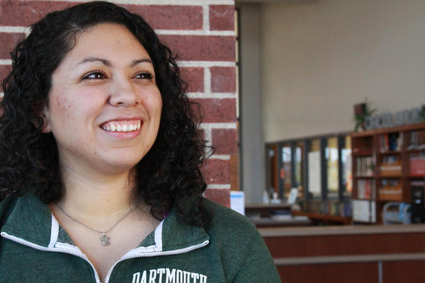 Kristen Hannah Perez, a low-income, high-achieving student from Celina, Texas, plans to attend Dartmouth€ College next fall.