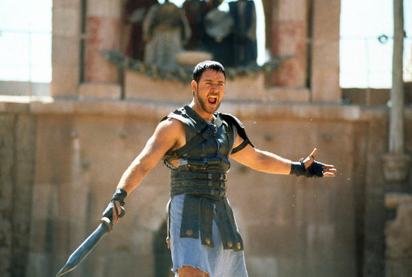 """Historian Mary Beard says real gladiator competitions were probably not as brutal as the film <em>Gladiator</em> (starring Russell Crowe) would have us believe. Still, she says, """"I loved <em>Gladiator</em> and I thought its depiction of gladiatorial combat, although it was an aggrandizing picture, was cleverly and expertly done."""""""