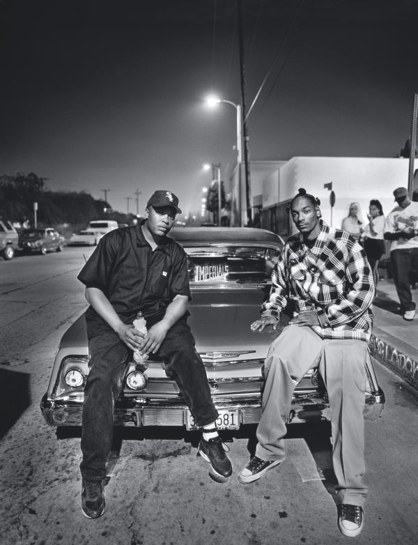 Dr. Dre and Snoop Dogg, photographed for <em>Rolling Stone</em> in 1993.