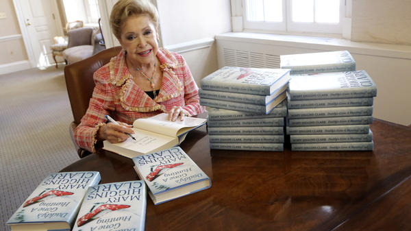 Author Mary Higgins Clark signs copies of her book <em>Daddy's Gone A Hunting</em> at the Simon and Schuster office in New York in 2013.