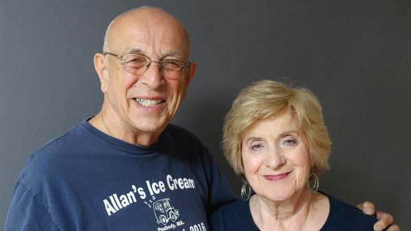 Allan Ganz and his wife, Rosalyn, met during his 71 years in the ice cream business. The couple looks back on Allan's life of local fame in a StoryCorps interview this month in Peabody, Mass.