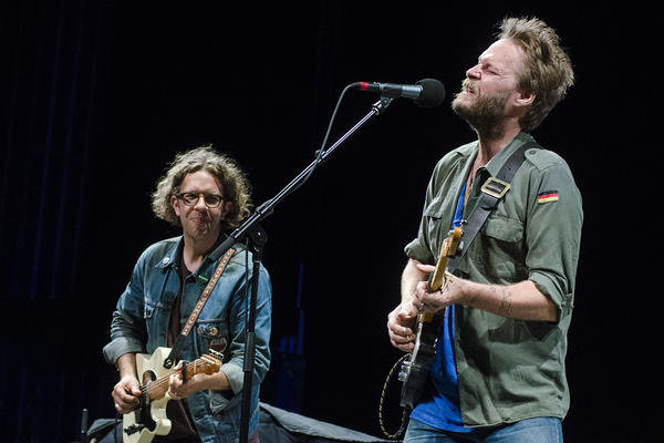MC Taylor (Right) fronts Hiss Golden Messenger, who perform on this week's broadcast of Mountain Stage