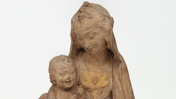 The Virgin and the Laughing Child is said to be Leonardo da Vinci's only surviving sculpture.