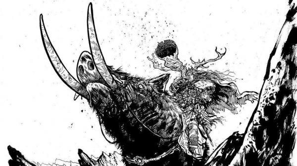 Comic book artist Daniel Warren Johnson (<em>Murder Falcon</em>, <em>Extremity</em>) illustrates the music of Viking's Choice. Horns up!