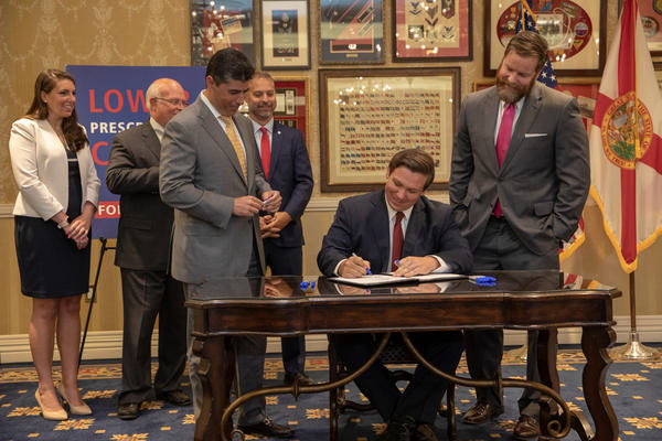 Gov. Ron DeSantis signed Florida's prescription drug importation program into law last week at The Villages, a large retirement community outside Orlando.