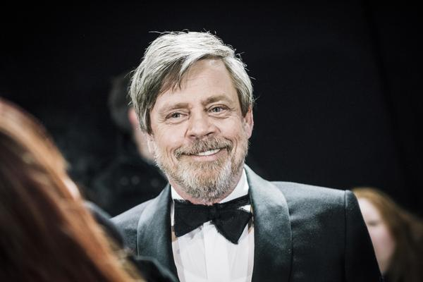 Mark Hamill is the new voice of Chucky — the murderous doll is coming back to life in a reboot of the 1988 horror classic <em>Child's Play</em>. Hamill is pictured above in London in December 2017.