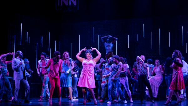 Jordan Weatherston Pitts (center) sings the role of Renata, the drag queen, with the company of New York City Opera's <em>Stonewall</em>.