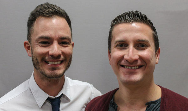 Sean Sala, (left) and Fernando Zweifach Lopez at StoryCorps in San Diego in January 2013.