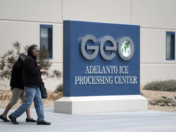The U.S. Immigration and Customs Enforcement processing center in Adelanto, Calif., is one of the detention facilities operated by GEO Group Inc.