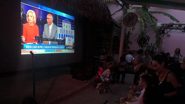 Debate watchers gathered Thursday night, June 27, 2019,  at Gramps in Miami's Wynwood neighborhood..