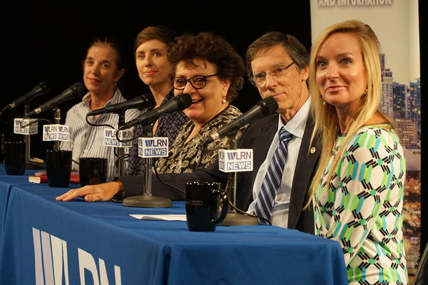 Sundial host Luis Hernandez on Tuesday talks with a panel of journalists, advocates and politicians about climate risk.