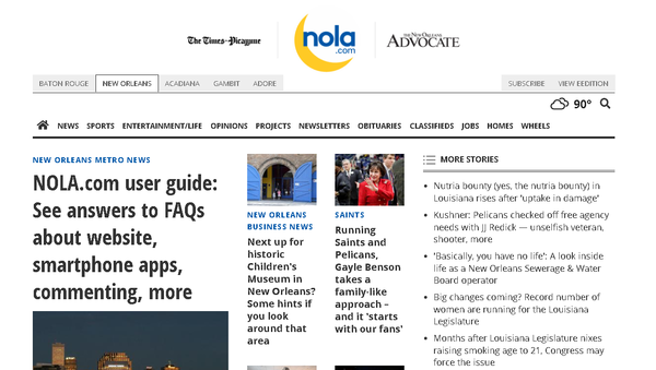 The Times Picayune | The New Orleans Advocate launched Monday.