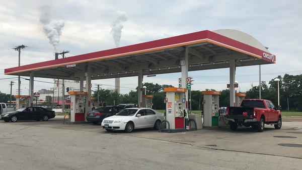 Gas station off Interstate 55 in Springfield. A 19-cent gas tax increase took effect on Monday, July 1.