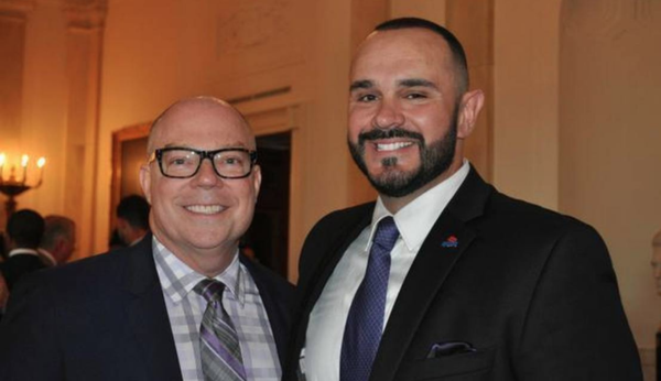 SAVE Executive Director Tony Lima, right, at the annual White House LGBT Pride reception with Florida state Rep. David Richardson, D-Miami .
