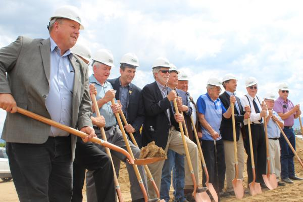 Veterans, Buttians, and state and federal political figures gathered in Butte for the ceremonial groundbreaking Tuesday, July 2, of the long awaited Southwest Montana Veterans Home. It was first proposed in 1993.