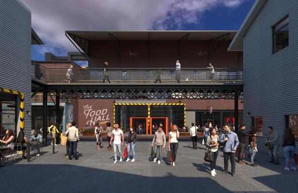 The City Foundry STL redevelopment will include a dining hall, grocery store and movie theatre in its $220 million first phase.
