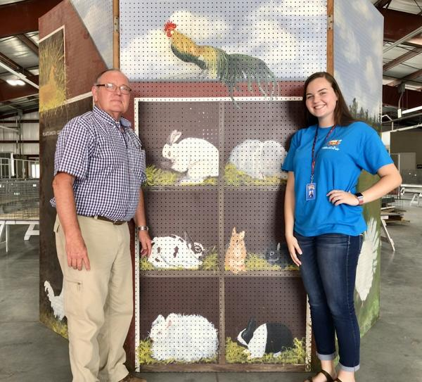 John Yancik, president of the Montgomery County Agricultural Society and Taylor Thomas, Junior Queen of the Montgomery County Fair, expect a large turnout this year.