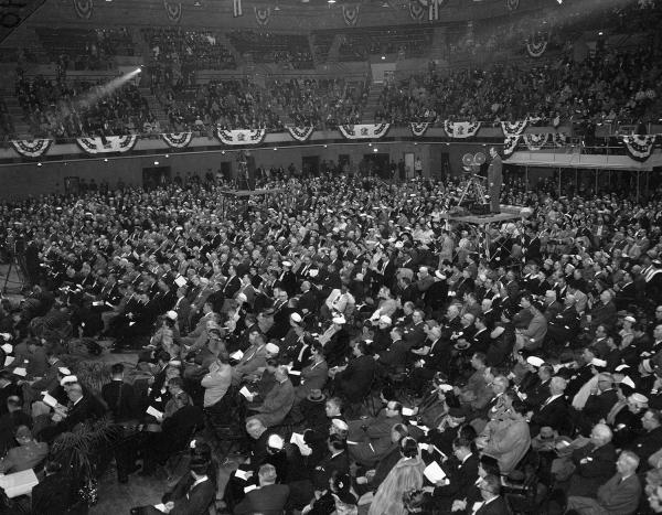 Governor William Stratton's inauguration, held at the Illinois State Armory on January 14, 1957