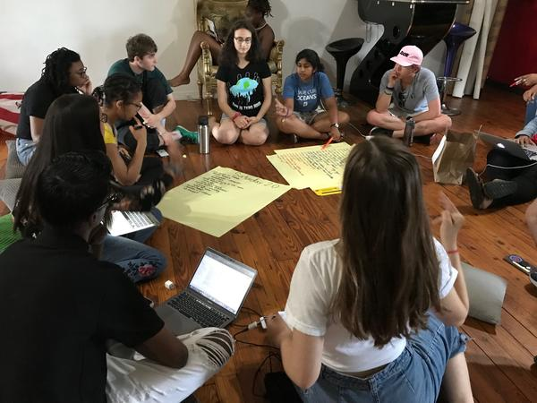 The international youth climate advocacy organization Zero Hour plans for their upcoming event in Miami.