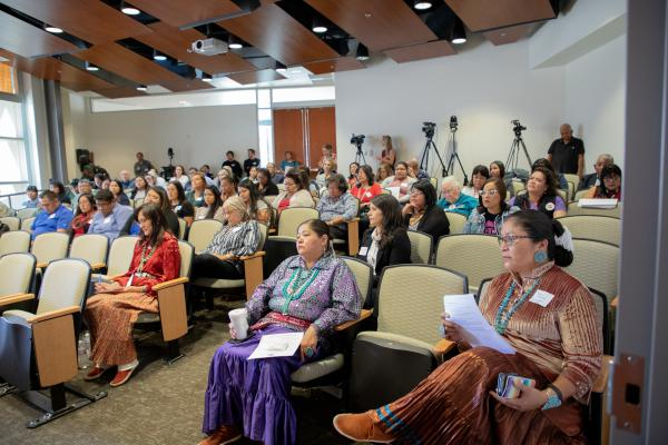 Participants at the first Missing and Murdered Dine Relatives Forum meeting heard from community leaders at a first-of-its-kind meeting in Shiprock, New Mexico.