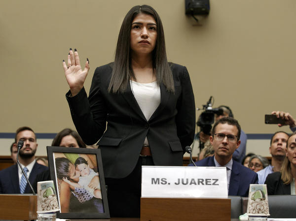 Yazmin Juárez, testified on Wednesday before Congress about the treatment of her daughter Mariee, who died after being released from detention by U.S. Immigration and Customs Enforcement.