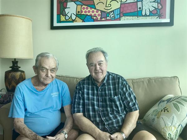 Ray Baker, left, and Joe Viana left Key West in November after 29 years.