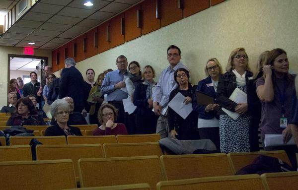 More than 40 people came to the DPHHS hearing on Medicaid cuts Feb. 1, 2018 in Helena.
