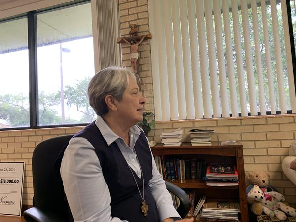 Sister Norma Pimentel is the director of Catholic Charities for the Rio Grande Valley. The respite center has aided 100,000 migrants since it opened in 2014.