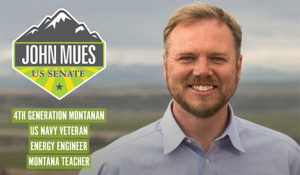 John Mues announced his candidacy for U.S. Senate July 11.