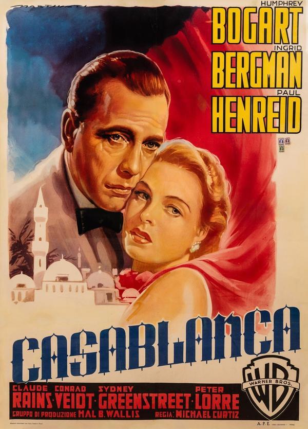 Casablanca, 1942, released 1953 Italian Release.