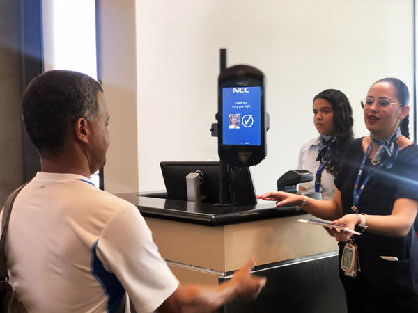 Tampa International Airport is testing out biometric face scanners at three of its gates during the month of July.