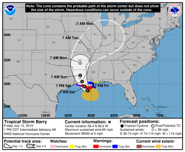 National Hurricane Center Director Ken Graham said pockets of Louisiana could have as much as 25 inches (63 centimeters) of rain.