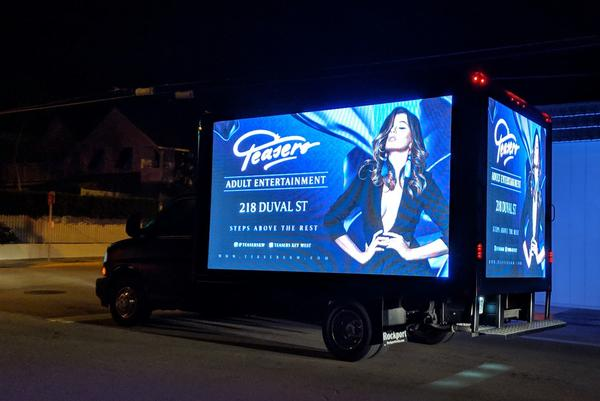 A truck with LED screens carrying advertising could soon be banned in Key West.