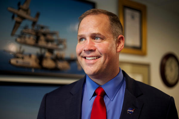 Jim Bridenstine became NASA administrator in April 2018. He says that before the space agency can send humans to Mars, it has to get them back to the moon.
