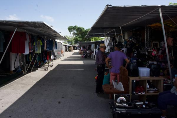 The Tropicana Flea Market was quieter than usual this Sunday, July 14, according to patrons and shopkeepers.