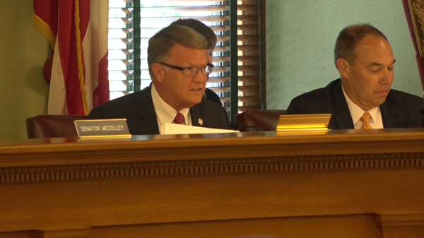 Senate Energy and Public Utilities Committee meets in  the Senate Building to discuss changes to HB6.